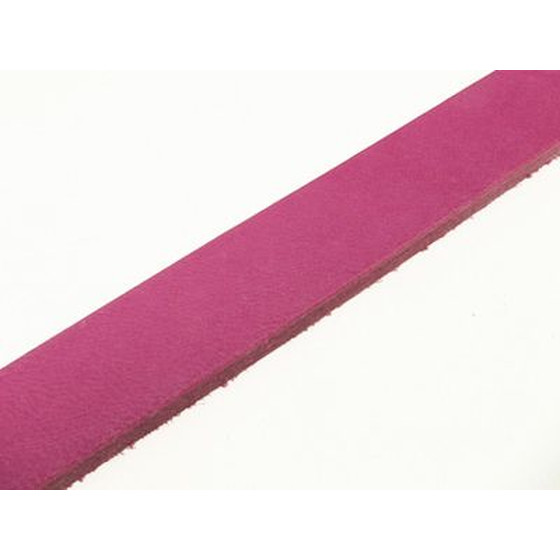 Flat Leather Strap 20x2,5mm, ca 110cm -  pink
