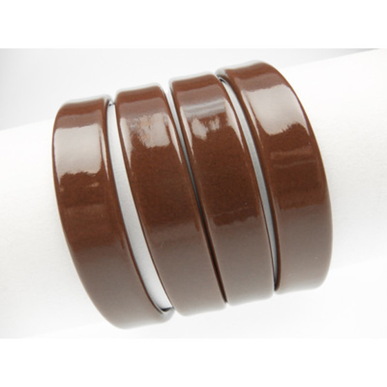 Recycled Leather aprx 10x2mm - brown (glossy)