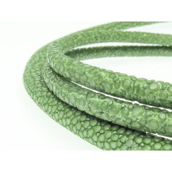 Stingray Leather Cord 3mm (Length: 43-45cm) - green