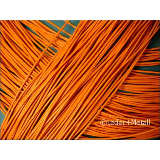 1 Mtr. Round leather cord Ø1,5mm - orange