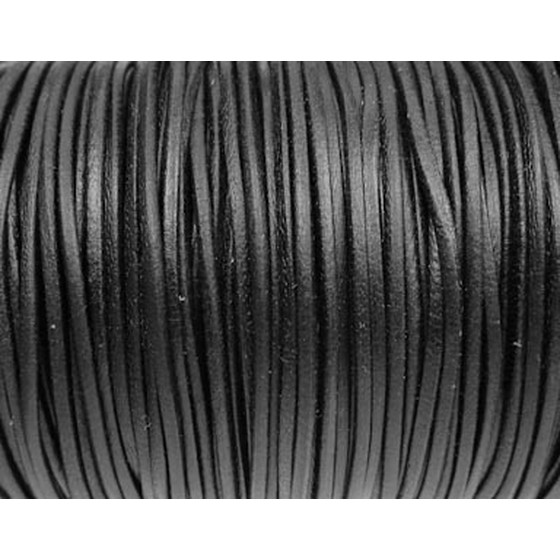 Kangaroo Leather Round Cord Ø1,0mm - black