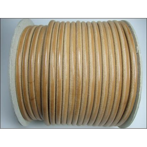 Round leather cord, high quality Ø9,0mm - natural