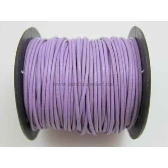 25 Mtr. Round leather cord Ø1,0mm - lylic