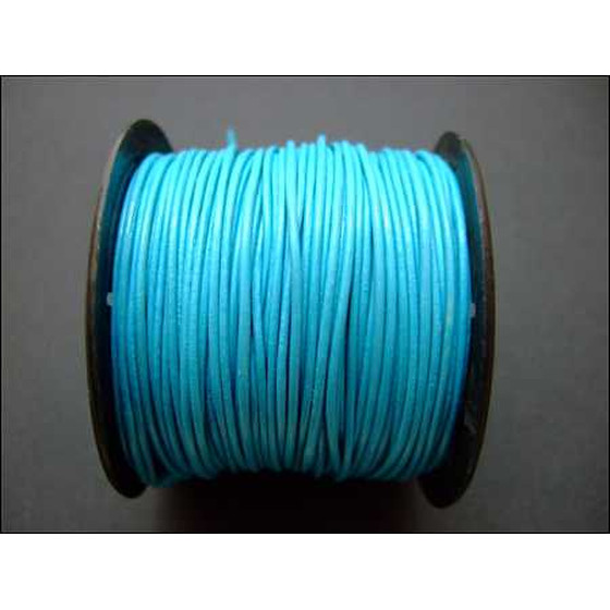 25 Mtr. Round leather cord Ø1,5mm - turquoise