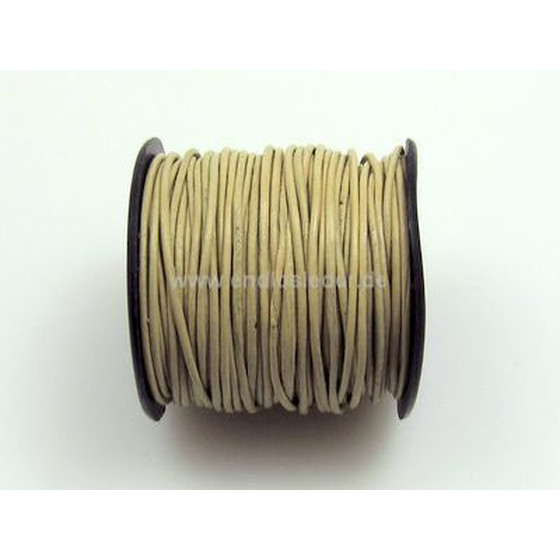 25 Mtr. Round leather cord Ø1,5mm - beige