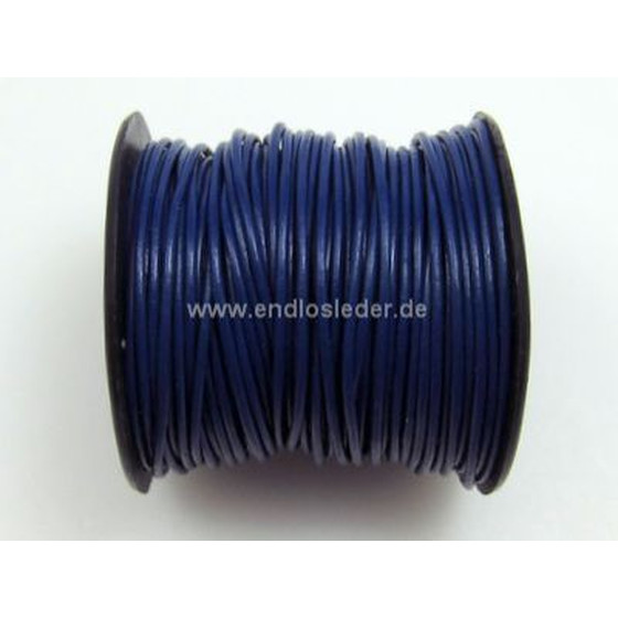 25 Mtr. Round leather cord Ø1,5mm - royal blue