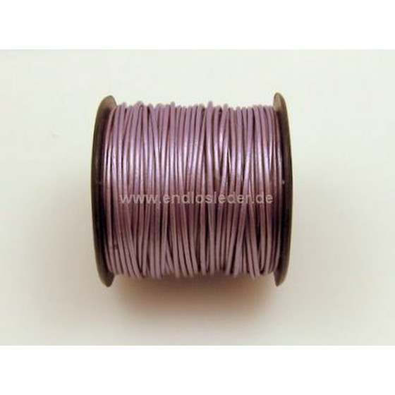 25 Mtr. Round leather cord Ø1,5mm - lylic (metallic)