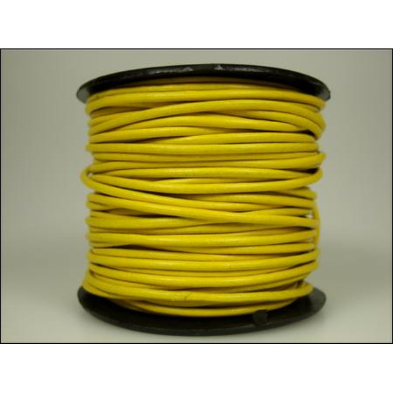 25 Mtr. Round leather cord Ø2,0mm - yellow