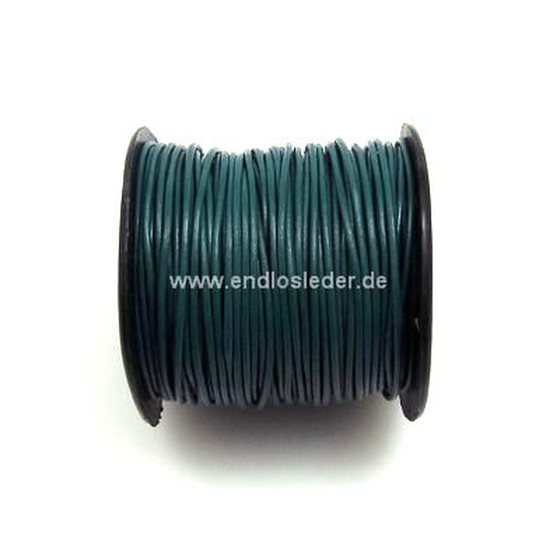 25 Mtr. Round leather cord Ø2,0mm - petrol