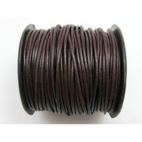25 Mtr. Round leather cord Ø2,5mm - darkbrown