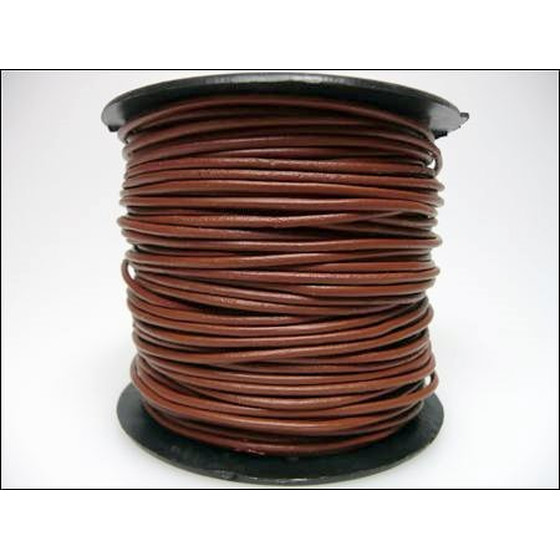 25 Mtr. Round leather cord Ø3,0mm - saddle brown