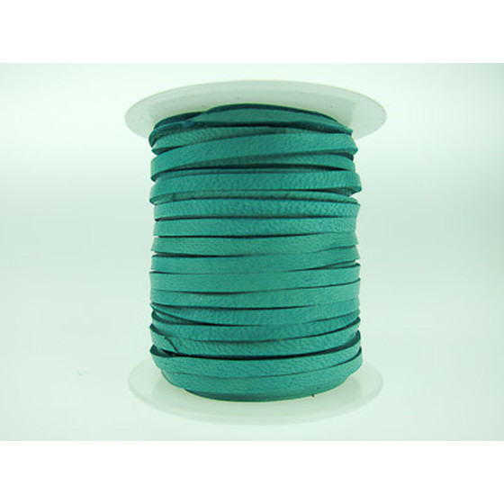 15m Deerskin lace Super-Soft 3,00 x 1,2mm - turquoise