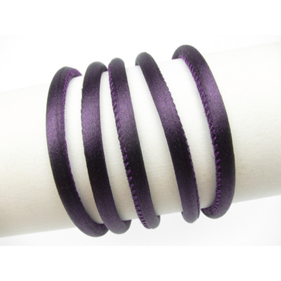 Silk Cord round stitched 2,5mm - purple