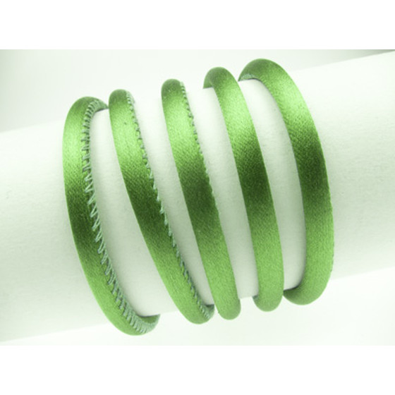 Silk Cord round stitched 5mm - green