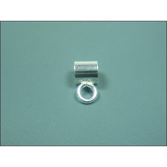 Connector for charms/beads, silver 925, Ø-inside 4,3mm