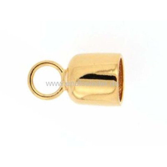 End cup, gold plated, high quality, Ø-inside 6,0mm