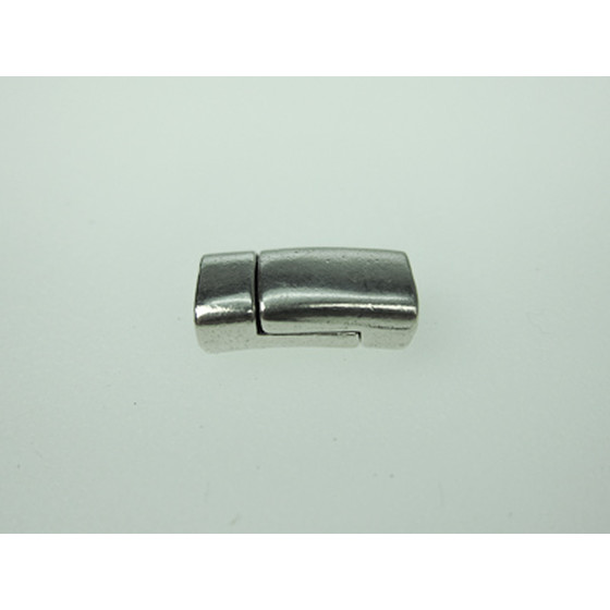 Magnetic Closure Pewter, flat, 6x3mm - Antique Silver