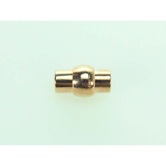 Magnetic Closure Pewter, tube, 6,0mm - Rose Gold Plated