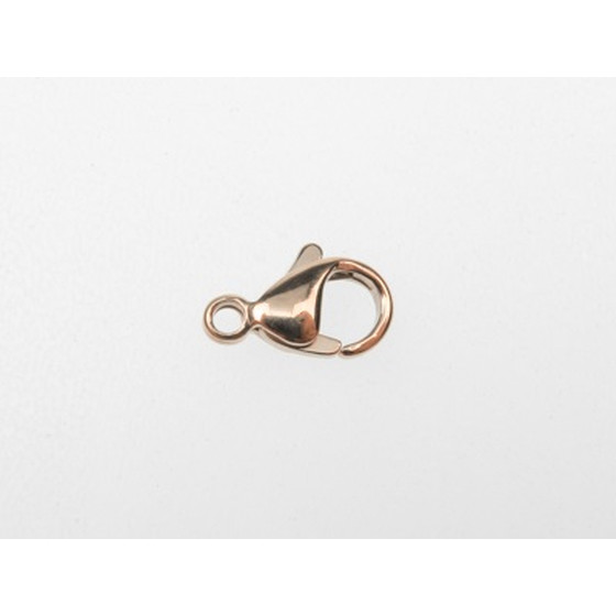 Lobster clasp, rose gold plated stainless steel, length:16mm