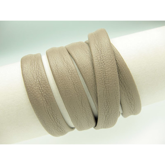 Nappa cord stitched without cotton core Ø8x4mm - light taupe