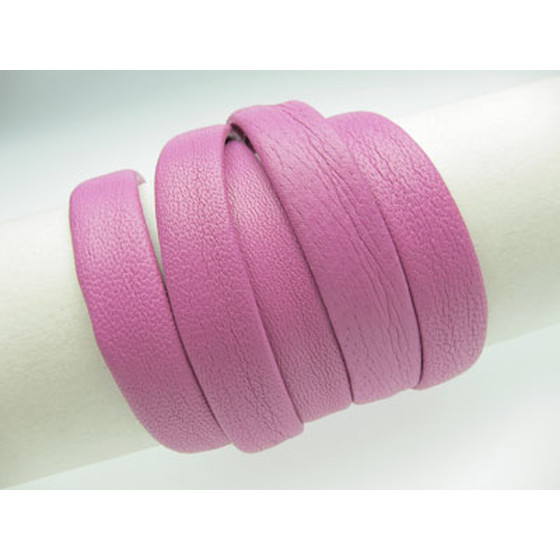 Nappa cord stitched without cotton core Ø8,0 x4,0mm - candy
