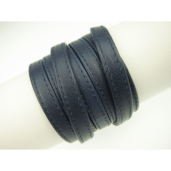 Nappa lace double stitched 7,0 x 2,0mm - navy