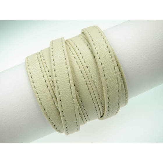 Nappa lace double stitched 7,0 x 2,0mm - creme
